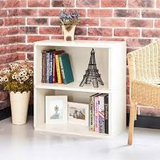 2 shelf white bookcase eco friendly way basics