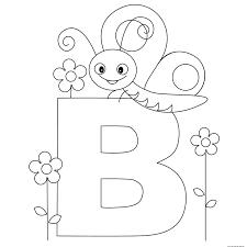 printable animal alphabet letter b butterflyfree printable