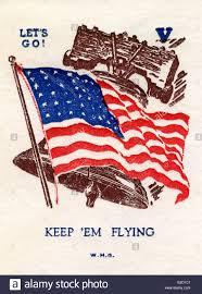 First Date Red Flags Ww2 Propaganda First Day Cover U0027let U0027s Go U0027 U0027keep U0027em Flying