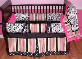 Pink And Black Crib Bedding Sets Kate Pink Baby Bedding Jpg
