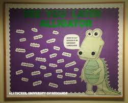 last bulletin board ever end of the year see you later alligator