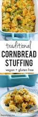 thanksgiving stuffing recipie cornbread stuffing vegan gluten free the pretty bee