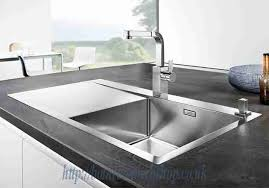 Flow STEELART Kitchen Sinks BLANCO Flow XL  SIF STEELART - Kitchen sink pop up waste