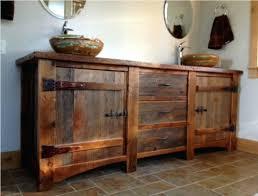 vibrant rustic bathroom vanities for vessel sinks rustic pine