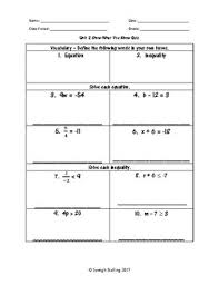 2 one variable equations and inequalities worksheets 7th grade