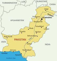 Hyderabad India Map by Pakistan Map Political Pakistan Map Outline Blank