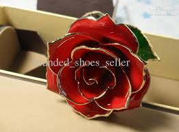Rose Dipped In Gold Wholesale Lacquered Red Natural Rose Dipped In 24kt Gold Rose