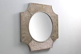 modern wall mirrors round size side view of white modern mirror