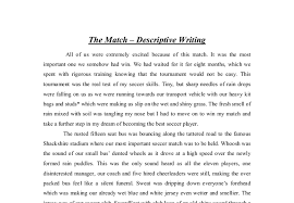 Resume First Person Awesome Collection Of Example Of A Descriptive Essay About A