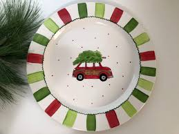 personalized christmas platter custom christmas platter christmas cookie plate personalized