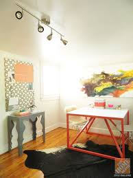 customize your own desk coral paint creates a vibrant space for creative work desks