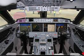 flight deck of the new dassault falcon 8x aviation
