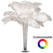 deluxe ostrich feather plume centerpiece with 24