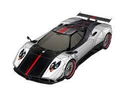 zonda starburst racing car free vehicle paper model download