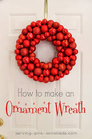 serving pink lemonade christmas ornament wreath