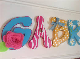 Letter Decorations For Nursery by Hand Made Girls Bedroom Decor Wood Letter Name Sign Pink Blue