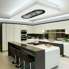 plafond cuisine hotte de cuisine de plafond avec éclairage intégré la 1200