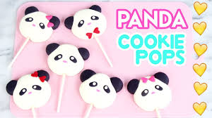 how to make panda cookie pops youtube