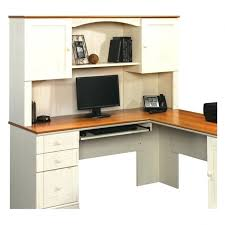 Sauder Harbor View Corner Computer Desk Antiqued White Finish Computer Desk With Hutch Corner Desks For Home Sauder Desk Large