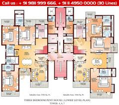 Pent House Floor Plan by Floor Plan Parsvnath La Tropicana