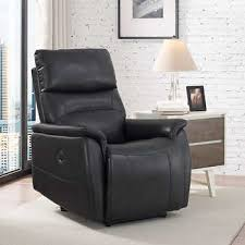 wheeler power fabric recliner charcoal gray