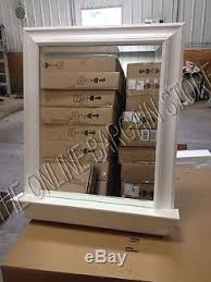 large bathroom mirror with shelf pottery barn metropolitan bath bathroom mirror with shelf wood