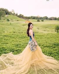 wedding dress rent jakarta photo by indigosixphotoworks lemon tulle gown