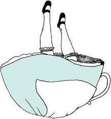 alice wonderland tea cup sticker