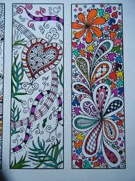 zentangle bookmarks printable bookmark coloring zentangle