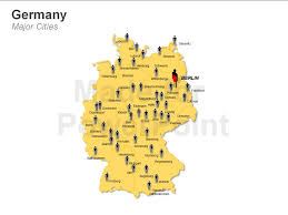 map germay germany map template editable powerpoint presentations