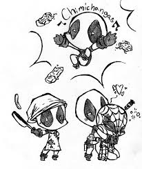 best chibi deadpool coloring pages 5575 chibi deadpool coloring