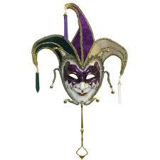jesters mask mardi gras jester mask w handle mardi gras party supply