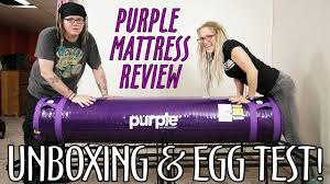 purple mattress unboxing review egg test what what