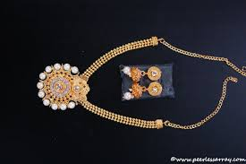 stone necklace designs images Designer gold plated kundan glass stone necklace set kj 20180523 jpg