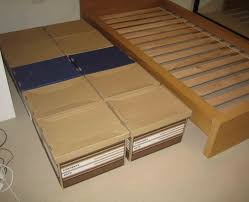 Bed Box Spring Frame Cheap Bed Substitute 3 Steps With Pictures