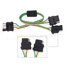 4 way flat light connector 4 way flat y splitter vehicle trailer wiring connector for
