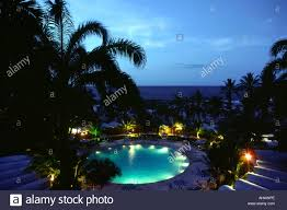 venezuela macuto sheraton hotel swimming pool at night stock photo