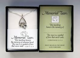 remembrance necklace tear drop memorial necklace