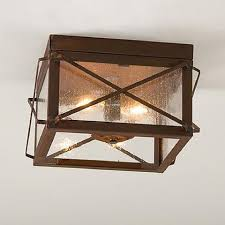 Tin Ceiling Lights Rustic Tin Ceiling Light With Folded Bars Handcrafted Fixture Made