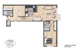 Den Floor Plan Leased Apartment 202 1 Bedroom 1 Den 2 Bathrooms Liberties