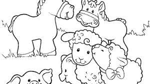 preschool jungle coloring pages farm animals printables preschool with coloring pages to print of