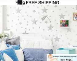 wall decals stars in variety sizes and 3 different colors