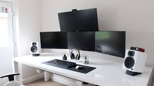 Long Gaming Desk by Ultimate Cable Management Guide How To Get A Super Clean Gaming