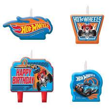 wheels wild racer cake candles set 4pcs cupcake decoration