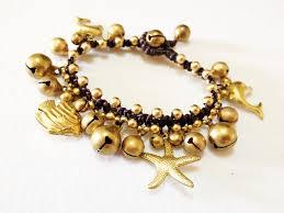 handmade bracelet charms images Brass charms bracelet sea life handmade beach inspired adjustable JPG