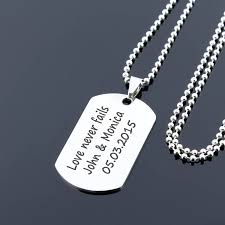 personalized dog tag necklace custom mens dog tag necklace navy necklace