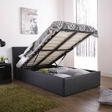 Single Ottoman Storage Bed by Bargain Prices Gfw End Lift Faux Ottoman Faux Leather Bedstead