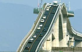 Unusual but true  Japan     s bridge a nightmare for drivers