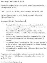 security guard proposal template 7 security contract templates
