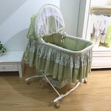 Baby Crib Bed Free Shipping Metal Baby Crib Rocking Bed Baby Cradle Cot Baby